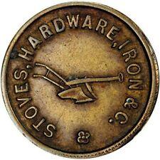 Janesville Wisconsin Civil War Token E S Barrows Plow R8 Brass Pcgs