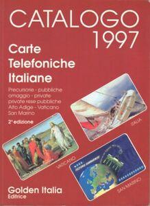 Catalogo Carte Schede Telefoniche ITALIA 1997 Calling cards Vaticano San Marino