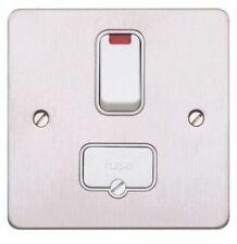 MK K14961 BSS W 13A Double Pole Switched Connection Unit Neon White Insert