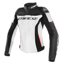 New Dainese Racing 3 Leather Jacket Women's EU 44 White/Black/Red #253378877744