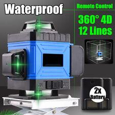360° 12 Lignes Niveau Laser Mesure de Nivellement Automatique 3D Croix Verte *