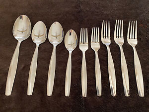 Cambridge LUMINA SAND Stainless Flatware 9 Pieces Dinner Forks Spoons