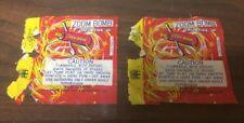 TWO Firecracker Fireworks Label ZOOM Buzz Bomb ICC