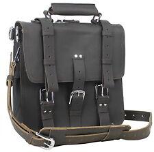 "Vagarant Traveler HIKER - 13"" Tall Leather Backpack iPad Laptop Bag L13. DB"