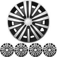 "16 Pulgadas 4x Premium Diseño Tapacubos Kit ""Spinel"" Plata/Negro"