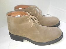 J Crew Brown Suede Ankle Boots Chukka Mens Size 7 Made in Italy