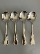 4 Villeroy Boch 18/10 Stainless MERLEMONT Round Bowl Cream Soup Spoons