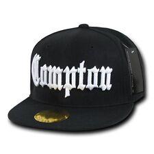 Compton Vintage Embroidered Hip Hop Flat Bill Snapback Snap Back Cap Hat Hats