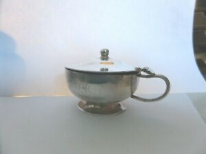 QUEENS ER11 ROYAL HOUSEHOLD/TRAIN ?? MUSTARD POT C.1970 ROBERTS & BELK PLATE