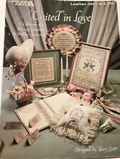 United in Love Cross Stitch Leaflet 304 Leisure Arts Charts Marriage Wedding