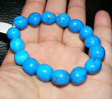 BLUE HOWLITE Gemstone Crystal Bracciale una pendenza% 10mm-12mm beads