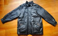 Men's Croft & Barrow Leather Coat w/ Removable Insulated Liner Size Large Black