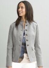 Banana Republic Women's Gray Italian Fabric Military Style Jacket, Size 8