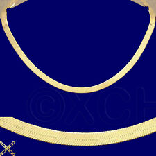"NEW LADIES 18"" HERRINGBONE NECKLACE GOLD ON 1/4 OZ SOLID STERLING SILVER #VEI"