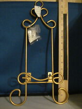 Plate Holder Wall Hang Holds 1 plate Gold Hardware Included 55101 259