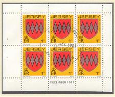 JERSEY 1981 December H-Blatt Wappen / Coat of Arms mit ESST VFU
