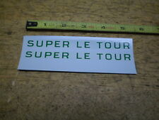 NOS Mint Schwinn Bicycle Green Super Le Tour Decal Set