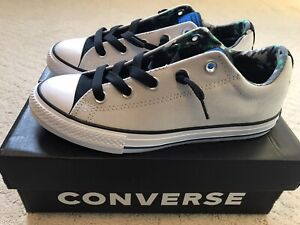 Converse Chuck Taylor All Star High Street Slip Kids Shoes SZ 4 Mouse Black Soar