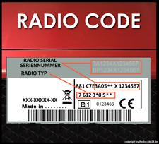 RADIO CODE passend für Ford Blaupunkt Travelpilot EX FX NX 132 170 256 DECODING