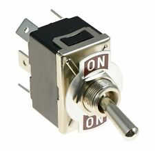 On-On Standard Toggle Switch DPDT 15A 250VAC