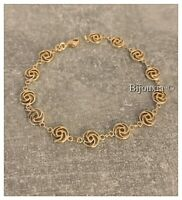 Bracelet Maille souple Ciselée Plaqué Or 18 carats Bijoux Femme