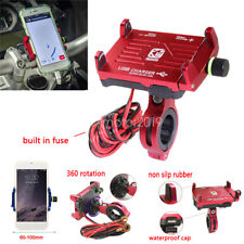Red Cell Phone Holder Mount USB Charger for Kawasaki Vulcan VN 2000 800 900 700