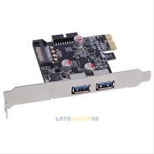 New 2-Port USB 3.0 PCI-E Express Card HUB Controller Adapter Card Internal 19Pin
