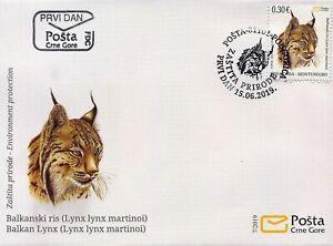2019, FDC, Balkanski Ris, Lynx Lynx Martinoi, Animals, Montenegro