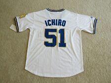 Seattle MARINERS HOF Legend #51 ICHIRO SUZUKI Stitch White P/O Jersey Men L NEW!