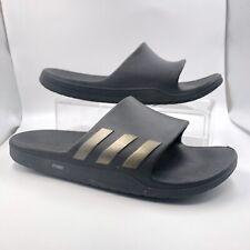 Adidas Black Rubber Pool Sandal Men Sz 7, Women 9