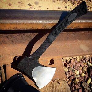 "11"" Black Tactical Axe with Sheath Heavy Duty Hatchet with Plastic Sheath"