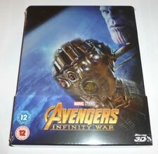 AVENGERS INFINITY WAR - 3D + 2D BLU RAY (STEELBOOK - UK EXCLUSIVE), MARVEL