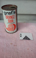 GRAF'S ORANGE  JUICE TAB STRAIGHT STEEL  SODA CAN CANS SHED A