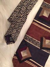 Fathers Day Gift Oscar De La Renta Mens Silk Neck Tie Dad Designer Vtg Suit F