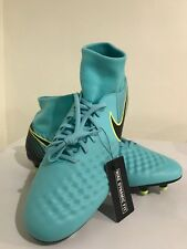 Nike Magista Obra II FG Womens Volt Soccer Cleats Shoes 844205-400 Size 13