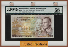TT PK 14A 1981 LUXEMBOURG 100 FRANCS GRAND-DUKE JEAN AND HENRY PMG 68 EPQ SUPERB