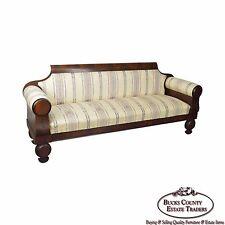Antique Classical 19th Century Mahogany Baltimore Sofa John Needles