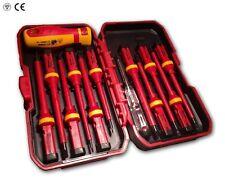 CT3794 13PC VDE Screwdriver Set Insulated 1000v & Voltage Tester, Hard Case Kit