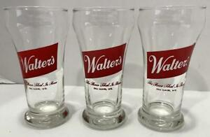 Lot of 3 Vtg Walters The Beer That Is Best Eau Claire WI Bulge Top Glass