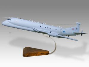 Hawker Siddeley Nimrod R1 RAF Solid Mahogany Wood Replica Airplane Desktop Model