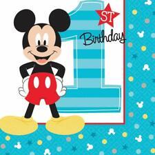 Mickey Mouse 1st Birthday Napkins