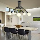 Modern Ceiling Lamp 5 Globe Black Pendant Light Bar Kitchen Chandelier Lighting
