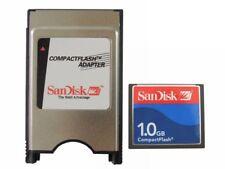 SANDISK 1gb CF flash compacto + PCMCIA adaptador = 1g ATA DISCO PARA JANOME
