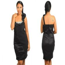 B22 Womens Black Size 18/20 One Shoulder Office Work Pencil Bodycon Formal Dress