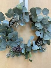 "SET OF 2 - Hearth & Hand with Magnolia 24"" Pine Cone & Eucalyptus Wreath"