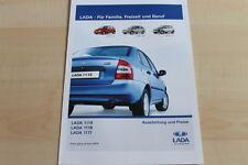 148755) Lada 1119 1118 1117 - Farben & Preise & Extras - Prospekt 04/2008