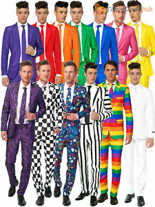Mens Suitmeister Patterned Colourful Suit Adults Fancy Dress Stag Funny Costume