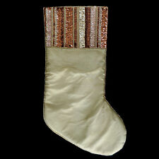 the DIVA CHRISTMAS STOCKINGS / BRONZE COPPER & GOLD SEQUINS with GLASS BEADS