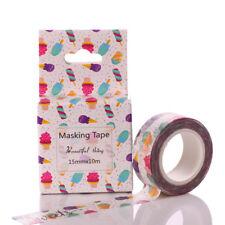 Hot Cartoon and paper tape paste label decoration scrapbook DIY craft ice cream