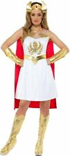 Womens She-Ra Fancy Dress Costume 80s Superhero He Man Ladies Outfit